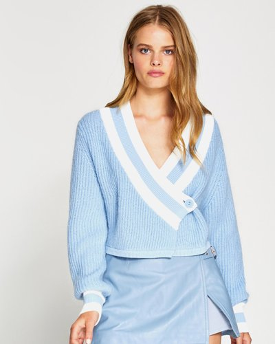 Get the Blues Cropped Cardigan