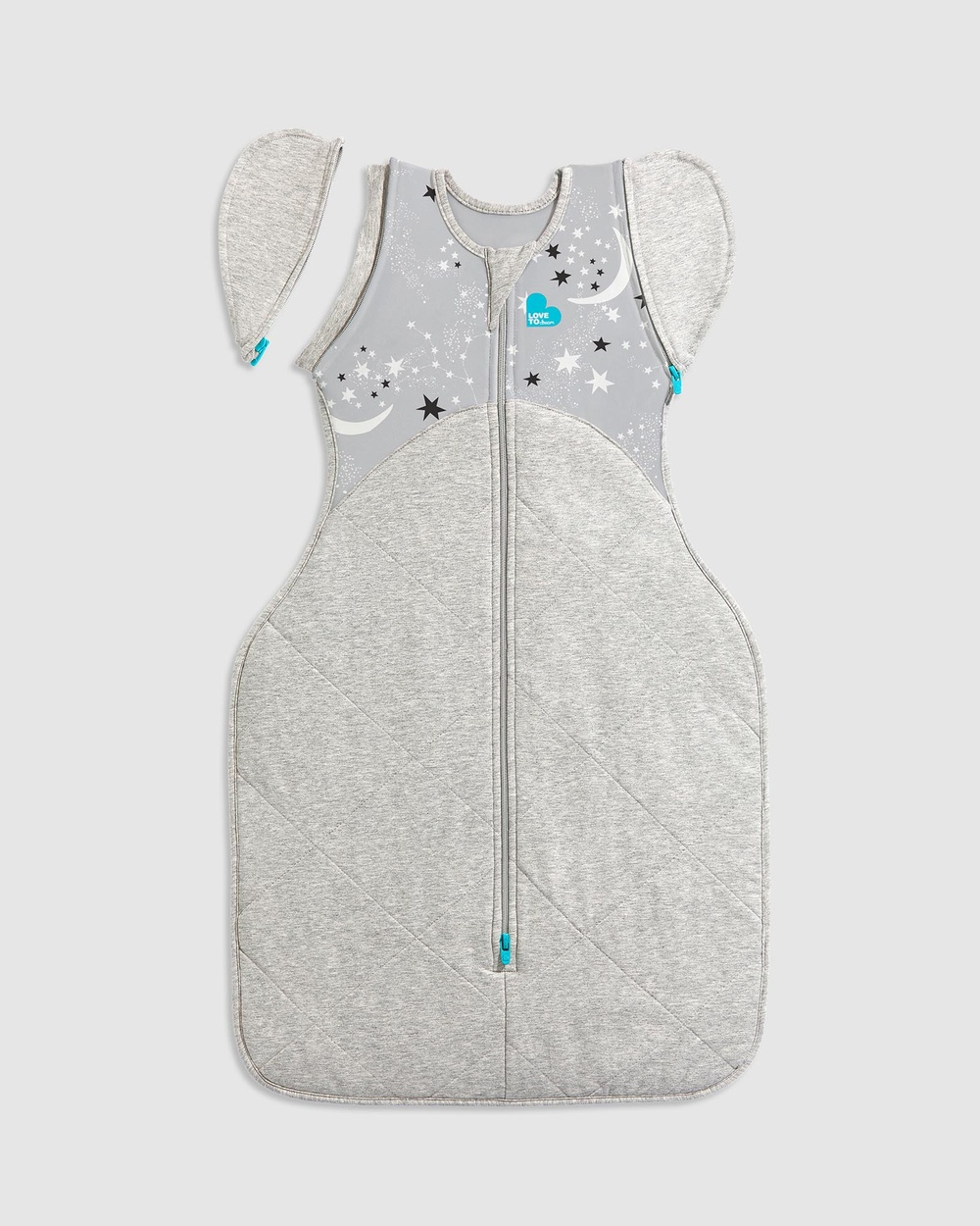 Love to Dream SWADDLE UP Transition Bag Extra Warm 3.5 Tog Sleep & Swaddles Grey Moon Stars