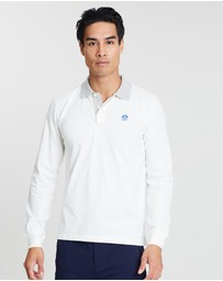 Long Sleeve Patch Polo