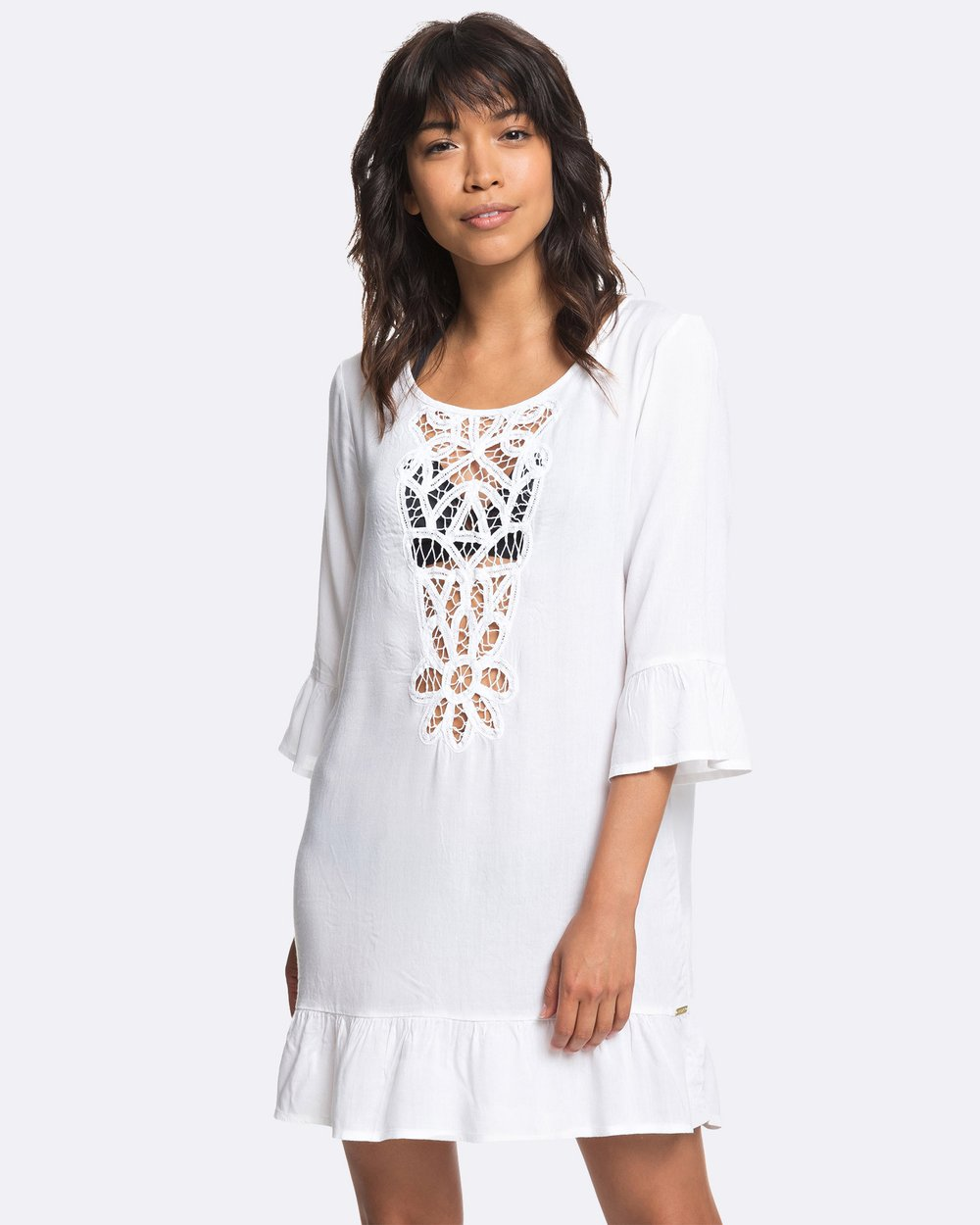 17d7aefb8297 Womens Goldy Soul Long Sleeved Ruffle Beach Dress by Roxy Online | THE  ICONIC | Australia
