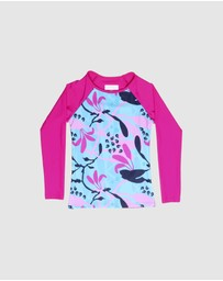 Conscious Swim - Long Sleeve Wilugaju Print Rashie - Girls