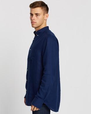 Gant The Linen Regular Button Down Shirt - Casual shirts (Navy)