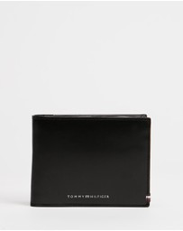 Tommy Hilfiger - Polished Leather Credit Clap Flap & Coin Wallet