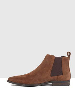 Croft - Camden Boots (Tan Suede)