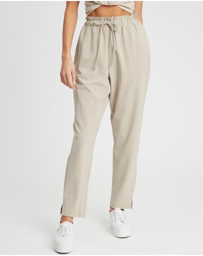 Calli Paper Bag Trousers Stone