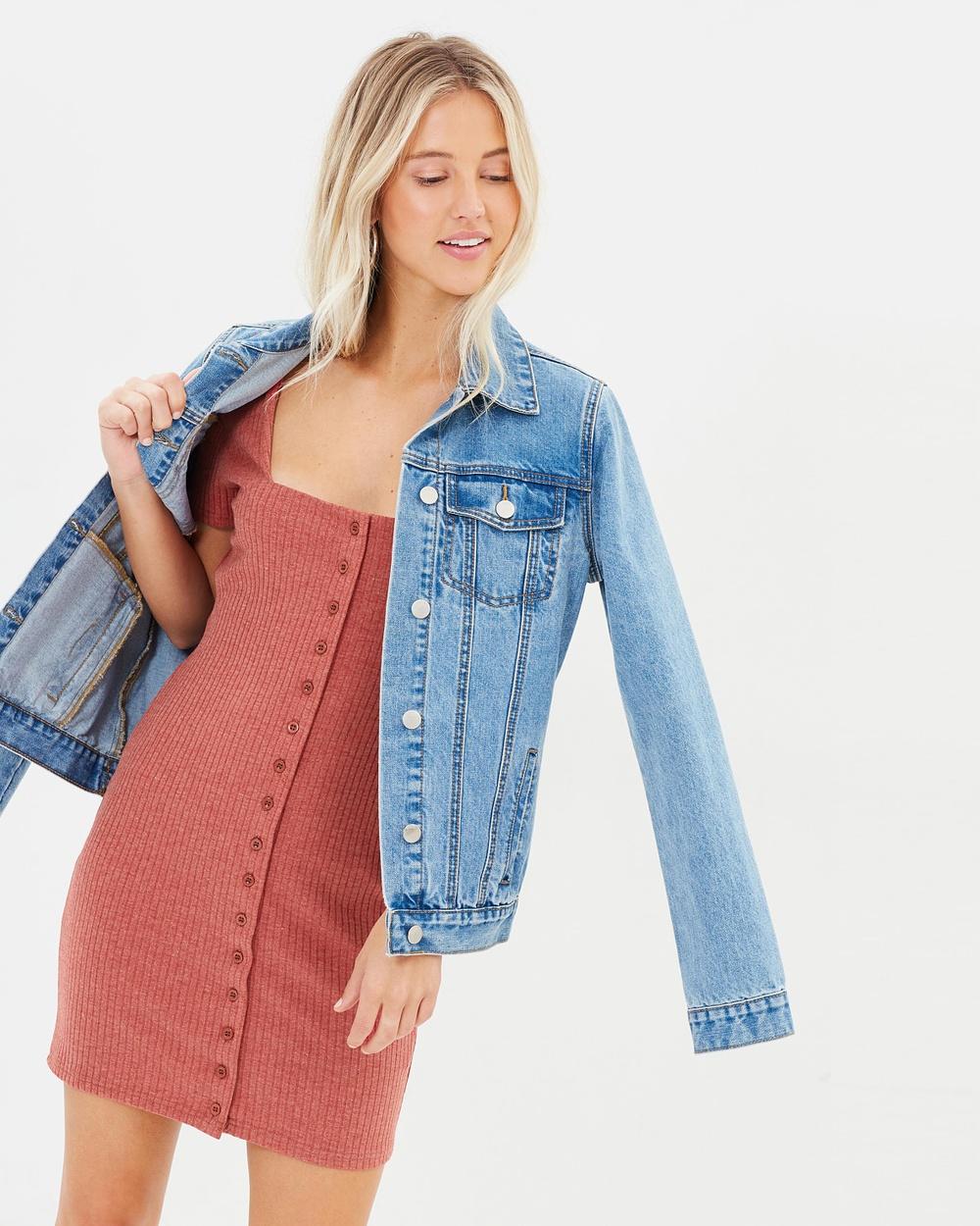 MINKPINK Weekender Button Front Dress Dresses Rust Weekender Button Front Dress