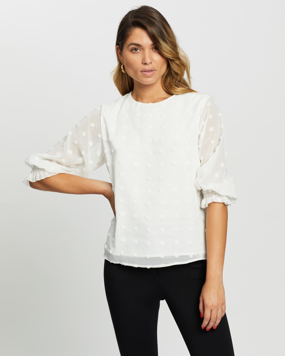 Atmos&Here - Sandy Blouse - Tops (White) Sandy Blouse