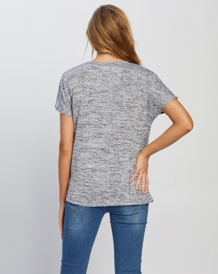 Cotton On Maternity Maternity Karly Short Sleeve Top - Tops (Grey Twist)