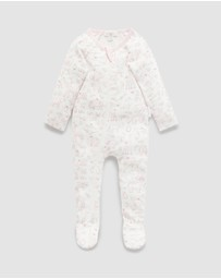 Purebaby - Printed Zip Growsuit - Babies