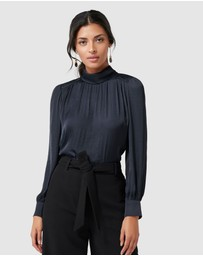 Forever New - Kristina High Neck Drape Blouse