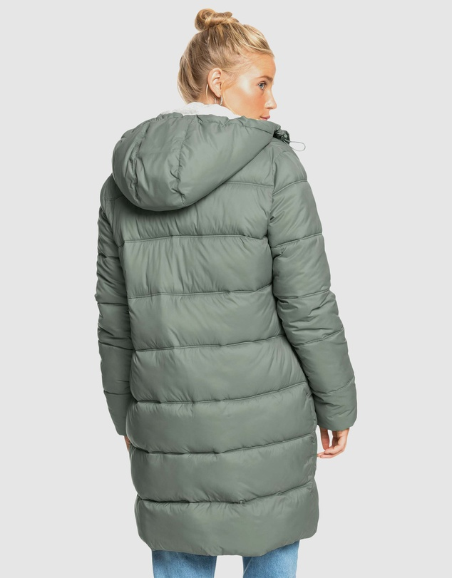 Women Womens Crest Of The Wave Sherpa Hooded Puffer Jacket