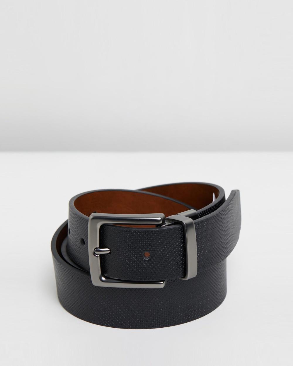 Ben Sherman Reversible Casual Belt Belts Black & Tan