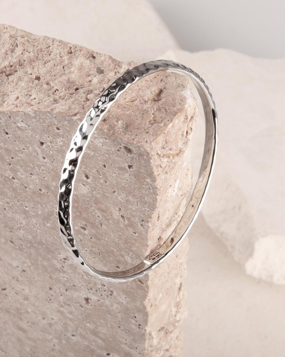 Najo Martillado Bangle Jewellery Silver