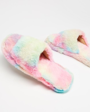 Dazie Jenner Slippers - Slippers & Accessories (Tie Dye Fluff)