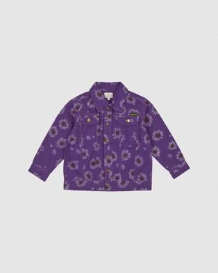 Goldie + Ace - THE ICONIC EXCLUSIVE   Ace Vintage Wash Daisies Denim Jacket   Babies Kids - Denim jacket (Purple) THE ICONIC EXCLUSIVE - Ace Vintage Wash Daisies Denim Jacket - Babies-Kids