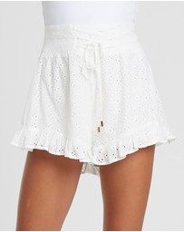The Fated - Holiday Broderie Shorts