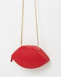 Lulu Guinness - Smooth Leather Lips W/Chain
