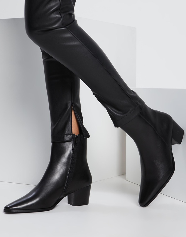 Women Jackson Leather Ankle Boots