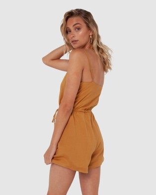 Madison The Label Penny Playsuit - Jumpsuits & Playsuits (Camel)