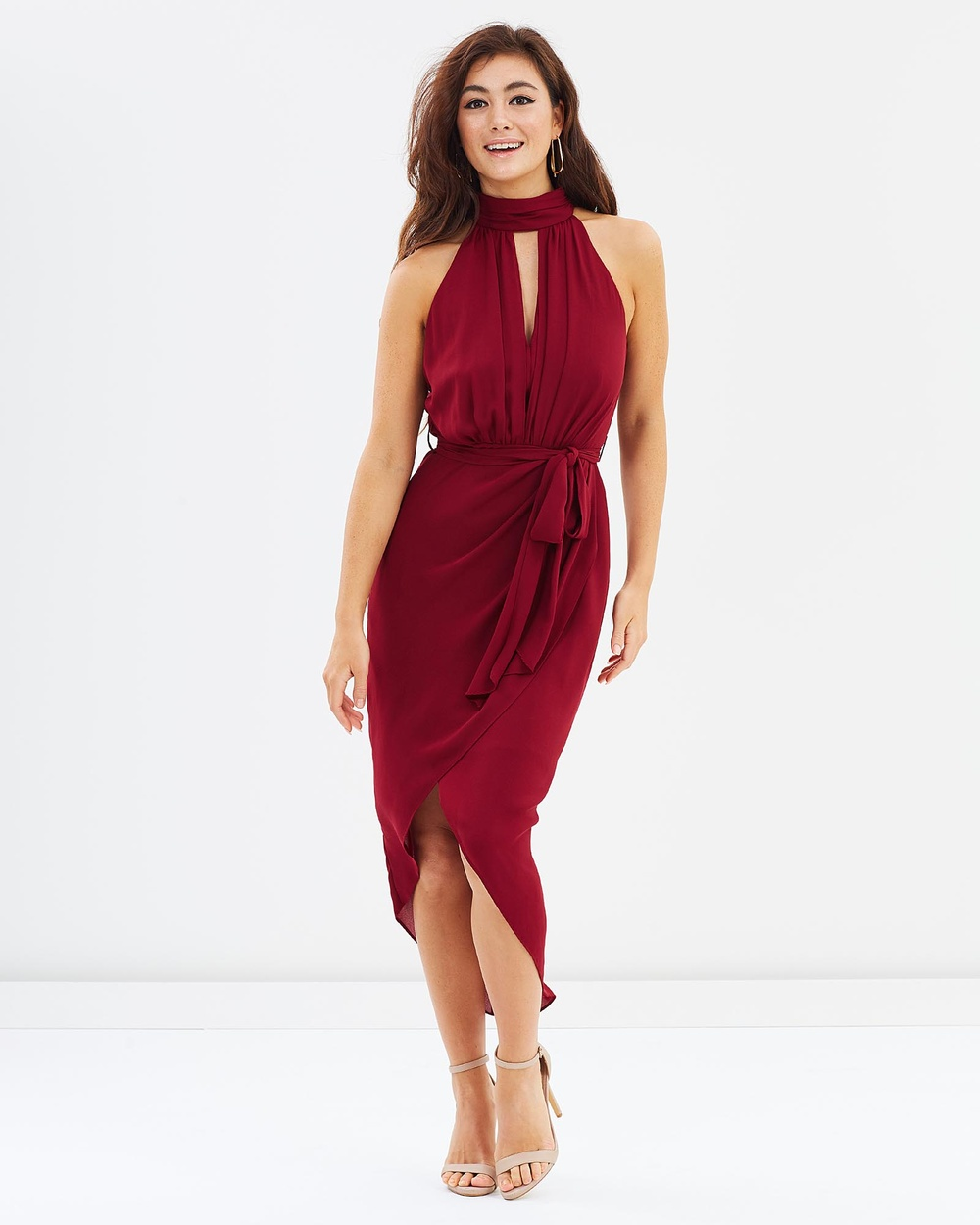 Montique Isla Halter Dress Bridesmaid Dresses Wine Isla Halter Dress