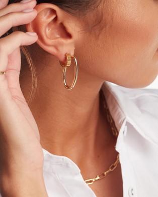 PETA AND JAIN Stormi Open Hoop Studs - Jewellery (Gold)