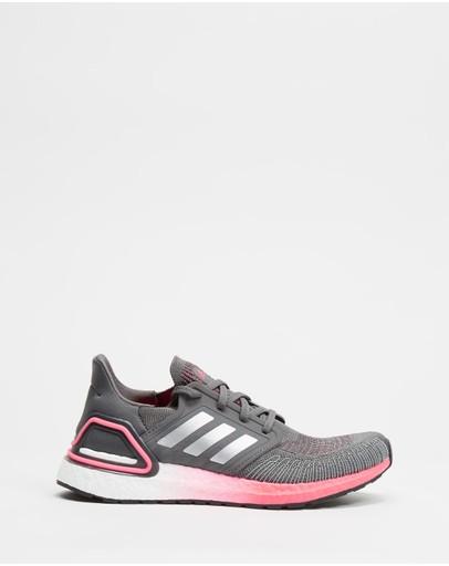 Adidas Performance Ultraboost 20 - Women's Running Shoes Grey Five Silver Metallic & Signal Pink