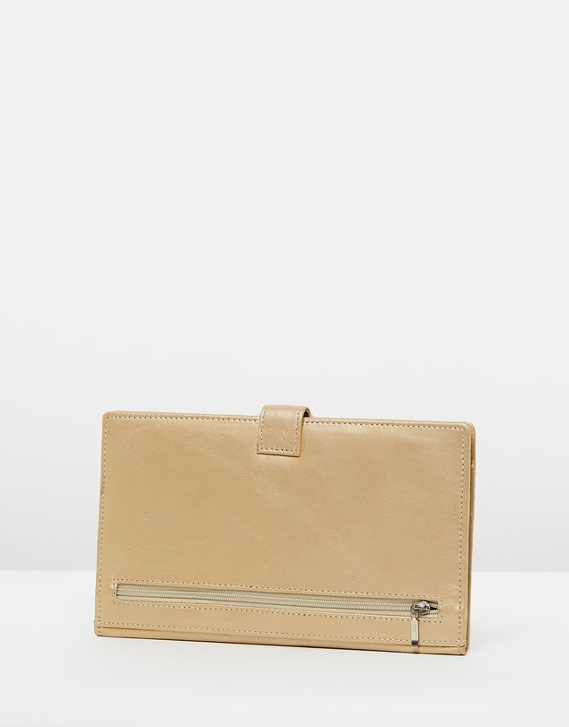 Women Leather Travel Clutch
