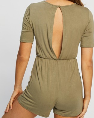 Atmos&Here Lizzy Playsuit - Jumpsuits & Playsuits (Khaki)