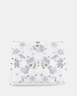 From St Xavier Kaleidoscope Foldover Clutch - Clutches (White)