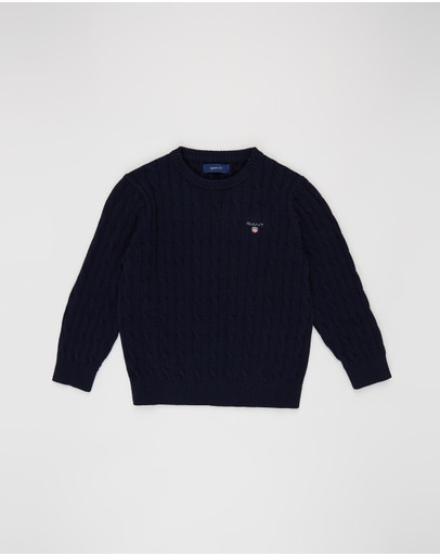 Gant - D1. Cotton Cable Crew - Kids
