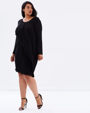 Advocado Plus – Soft Layers Dress – Dresses (Black)