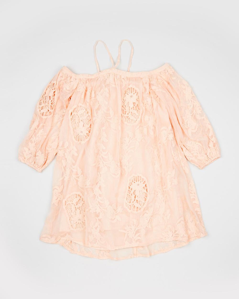 Marlo Peach Peach Blossom Lace Dress – Teens