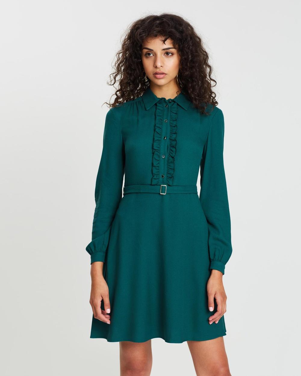 MAX & Co. Dark Green Definito Dress