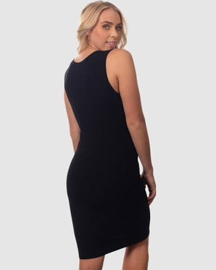 B Free Intimate Apparel Bamboo Everyday Dress - Dresses (Black)