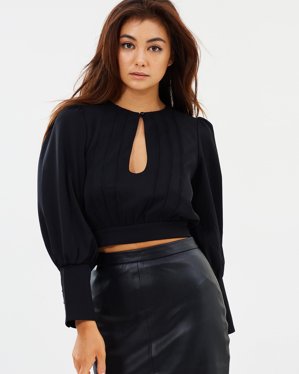 Mossman The Ready Or Not Top Cropped tops Black The Ready Or Not Top