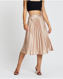 Missguided - Belted Pleated Midi Skirt