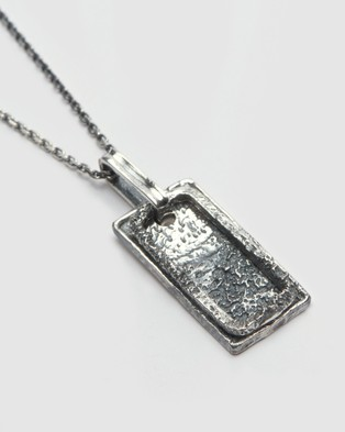 Australia Buck Palmer Hollow Tage Necklace - Jewellery (OXIDIZED)