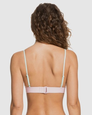 Roxy Womens Pastel Surf Bralette Separate Bikini Top - Bikini Tops (Bright White)