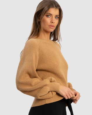 Tussah Chicago Jumper - Jumpers & Cardigans (Tan)