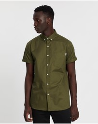 Topman - Short Sleeve Rigid Tab Shirt
