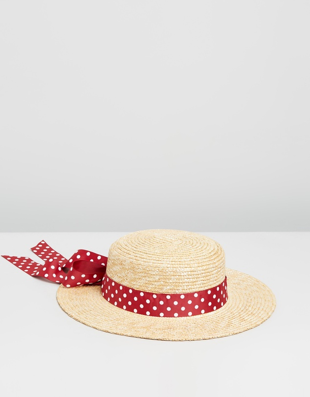 Morgan & Taylor - Straw Boater with Tie