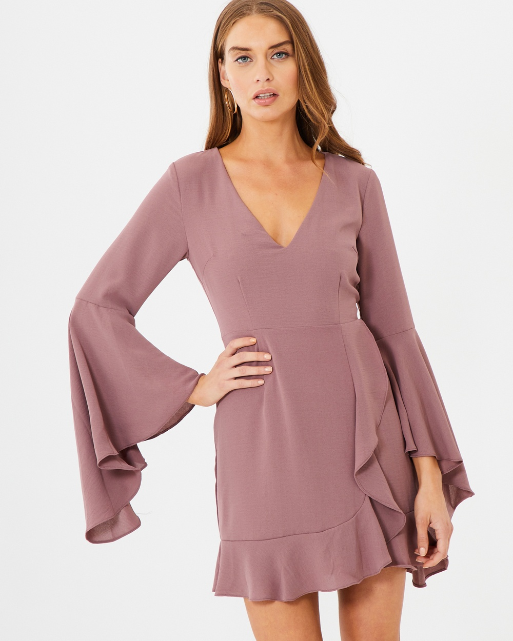 Tussah Britt Bell Sleeve Dress Dresses Damson Britt Bell Sleeve Dress