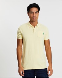 Scotch & Soda - Blauw Garment Dyed Polo