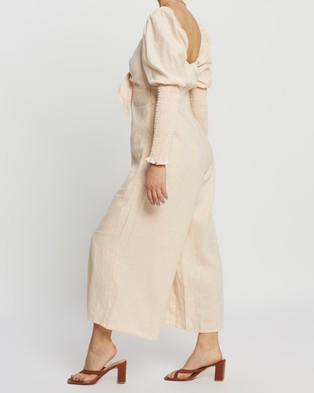 Palm Collective Otis Linen Jumpsuit - Jumpsuits & Playsuits (Pale Pink)
