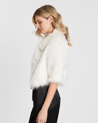 Unreal Fur Desire Cropped Jacket - Coats & Jackets (Ivory)
