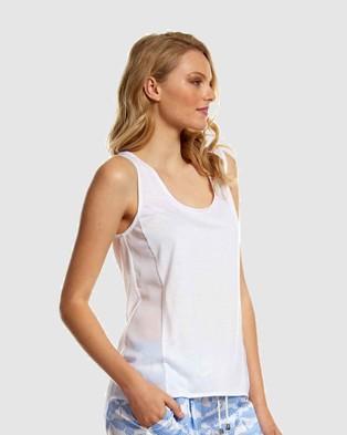 Deshabille Sleepwear  Emily Top - Sleepwear (White)