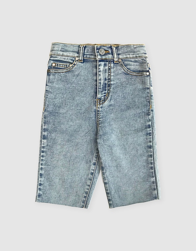 Gelati Jeans Kids - Zoe Acid Wash Stretch Denim Bike Short