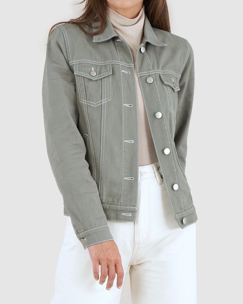 Amelius Alliance Drill Denim Jacket jacket Sage