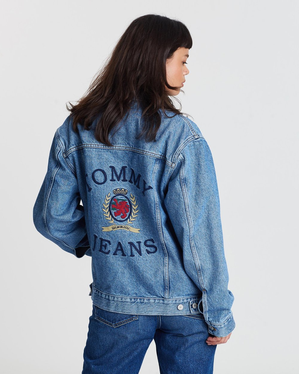 9d4cbdae Crest Flag Trucker Jacket - Women's by Tommy Jeans Online | THE ICONIC |  Australia