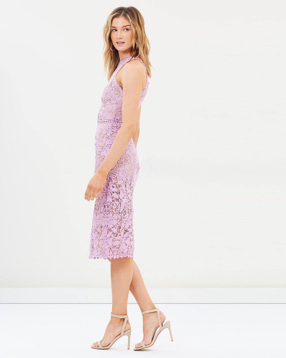 3350ac463a18 Snapdragon High Neck Lace Dress by Cooper St Online